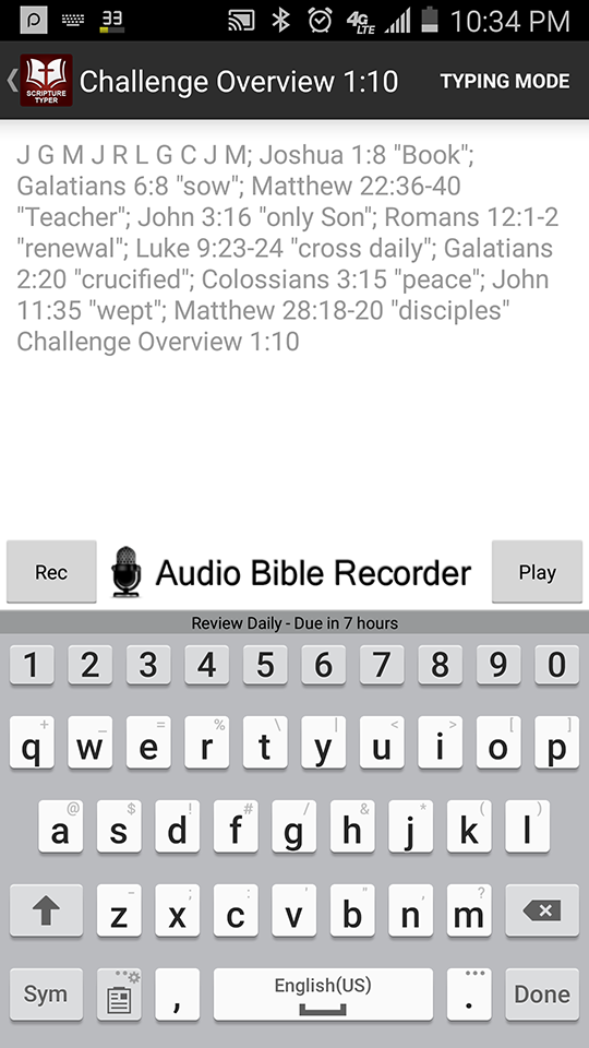Scripture Typer: Android App | Solid Life